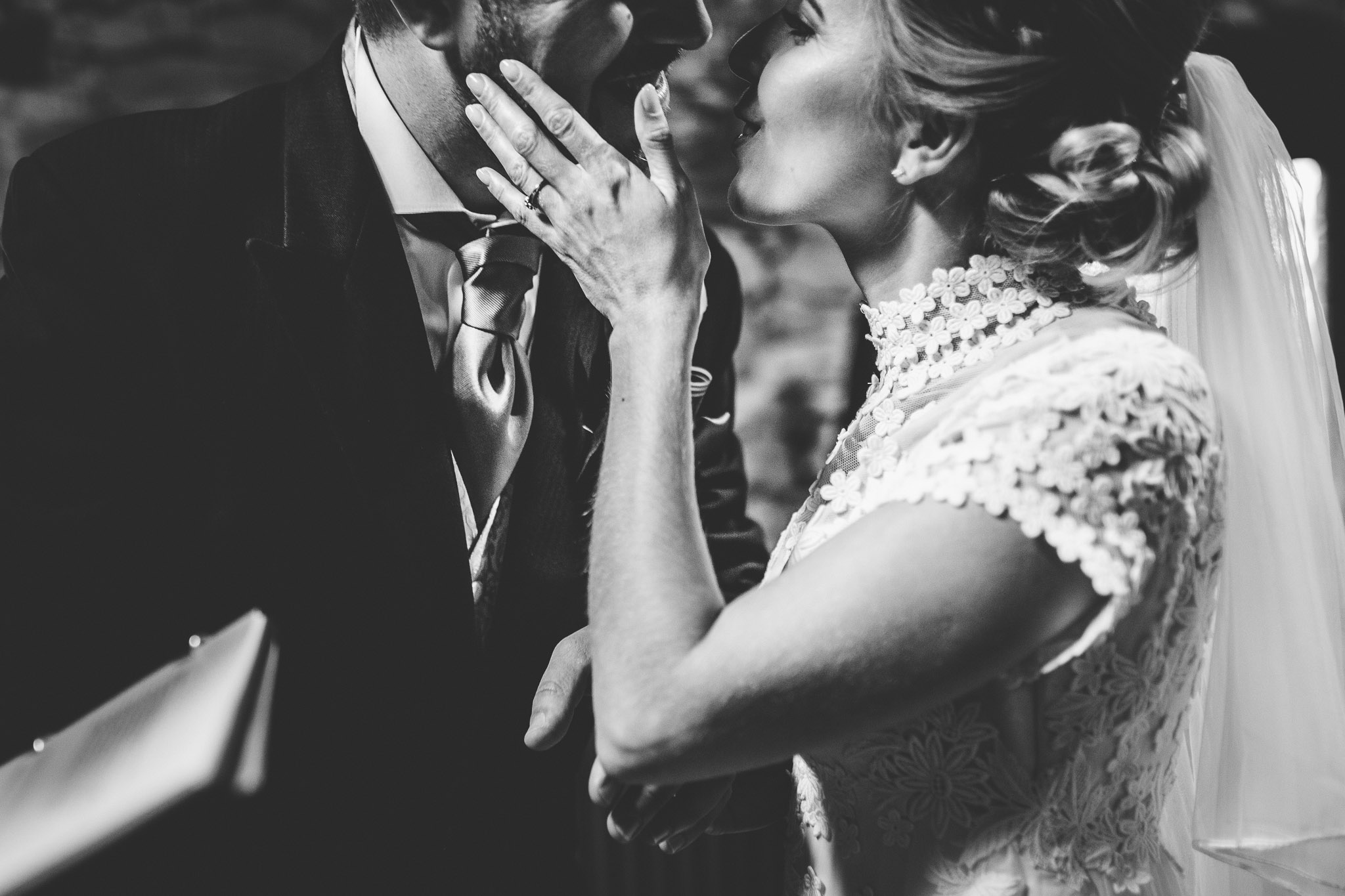 bride and groom first kiss best of 2017