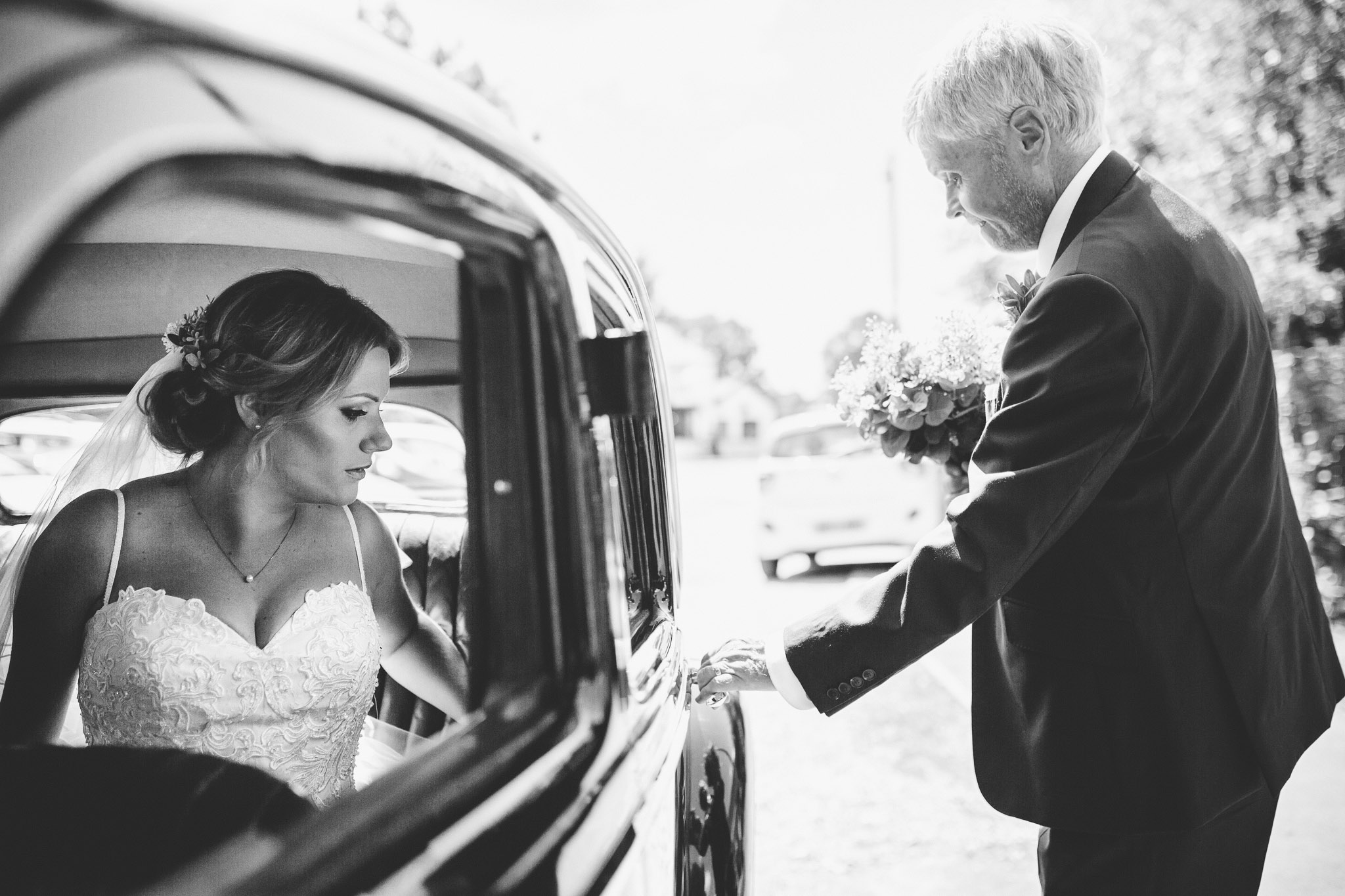 bride getting of the car best of 2017