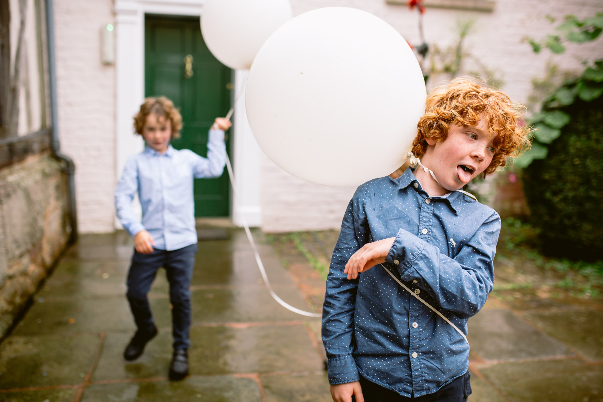 wedding guests boys playing with balloons best of 2017 in birtsmorton court