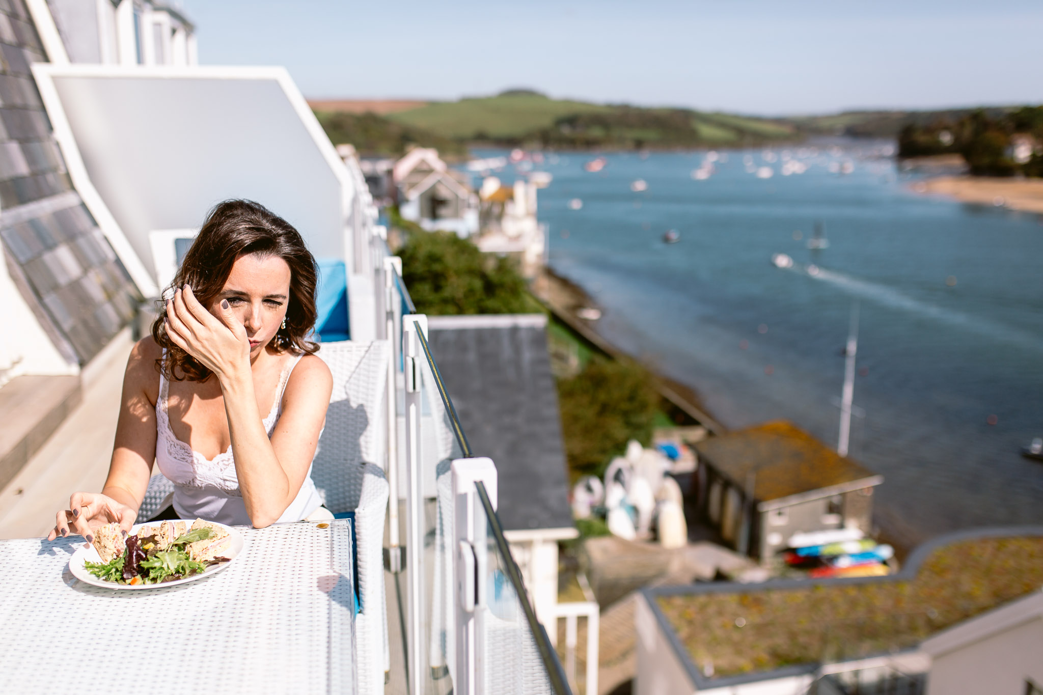 wedding guest eating breakfast on the terrace with ocean view best of 2017