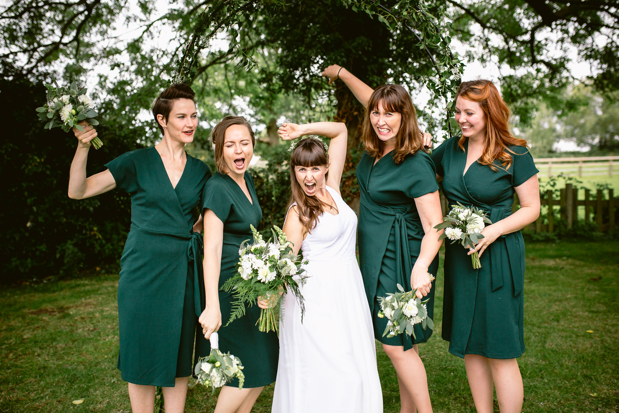 bridesmaids posing silly for the photo best of 2017