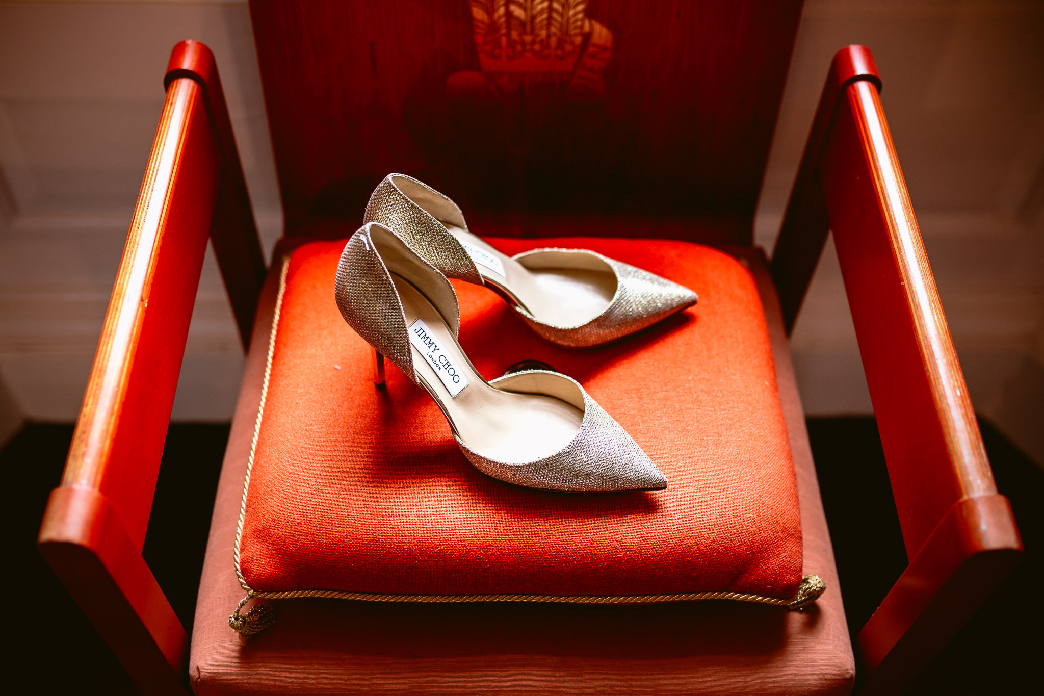 jimmy choo bridal shoes on the orange chair best of 2017