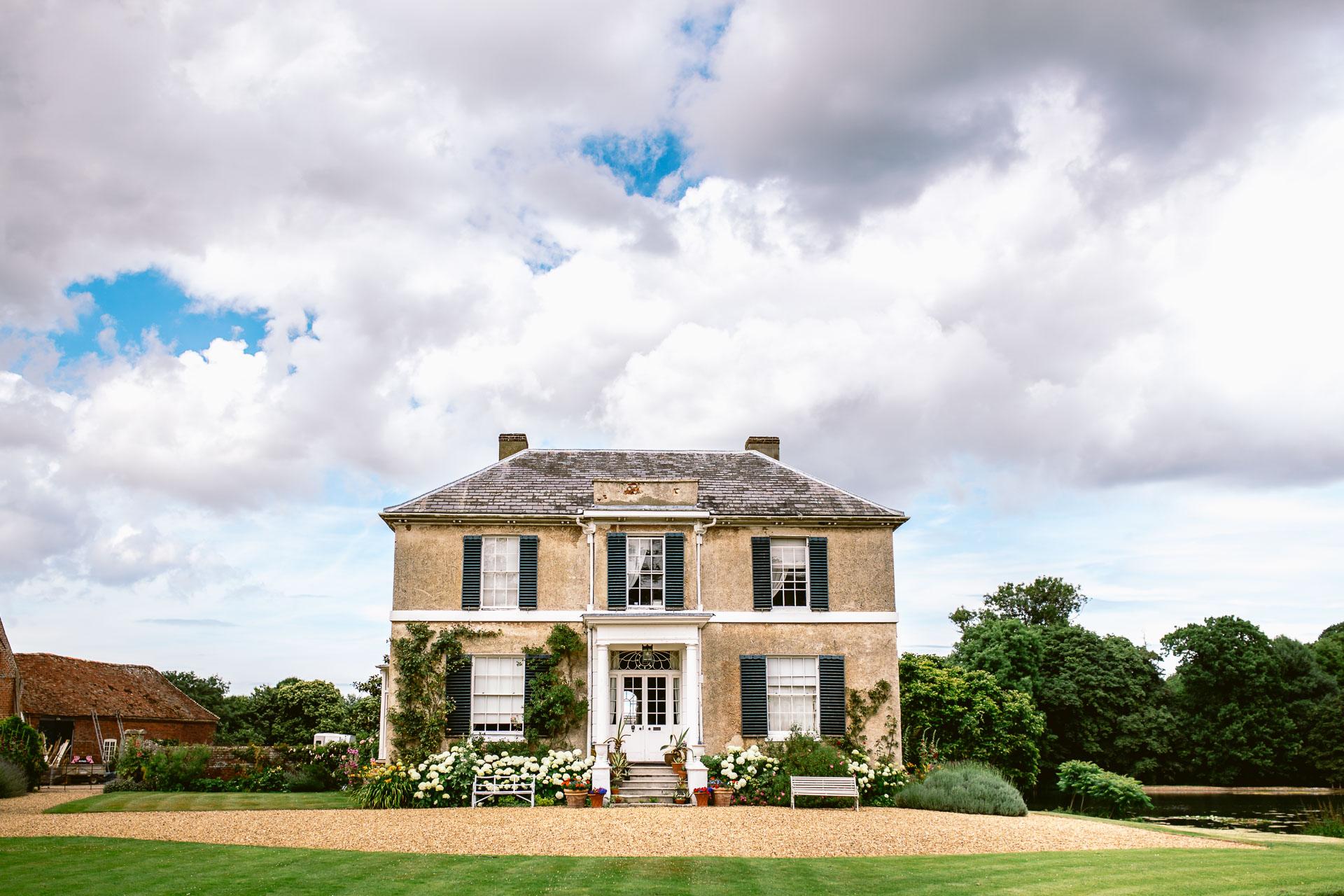 preston court boho wedding alexia and dan wedding venue front house in beautiful sunny day